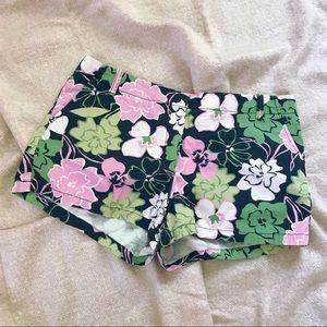 J. CREW Hawaiian Hibiscus Low Fit Short Shorts